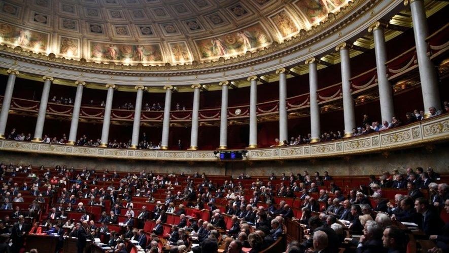 L'hémicycle de l'Assemblée nationale au palais Bourbon, le 24 mai 2016