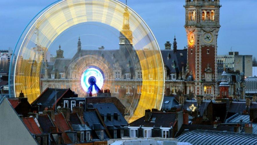 Le centre ville de Lille, le 15 décembre 2011