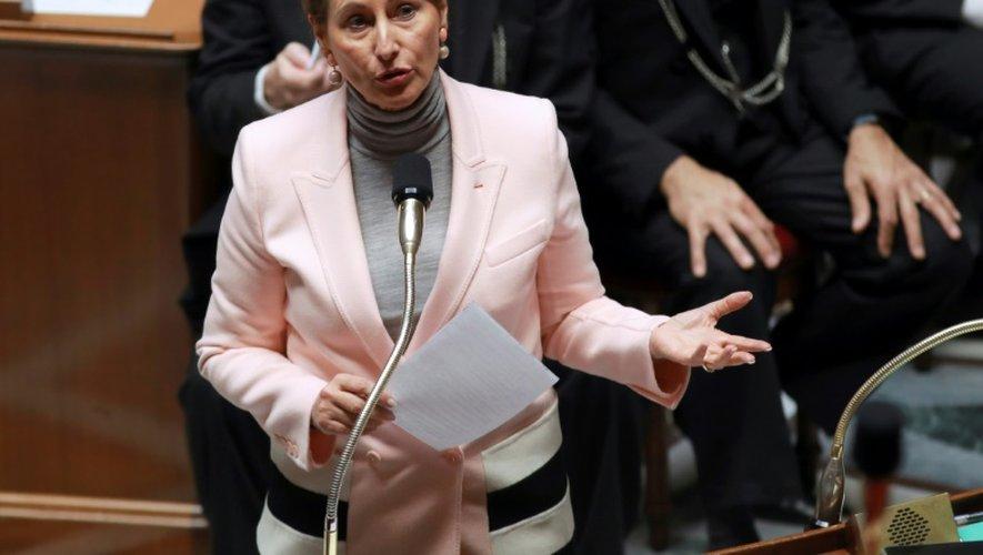 La ministre de l'Environnement Ségolène Royal, le 29 novembre 2016 à l'Assemblée nationale à Paris