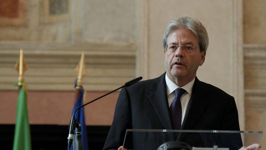 Le ministre des Affaires étrangères Paolo Gentiloni, le 2 décembre 2016 à Rome