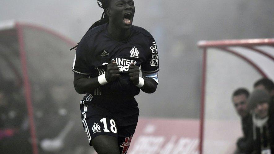 L'attaquant Bafétimbi Gomis inscrit le but de la victoire pour Marseille face à Dijon à Gaston-Gérard, le 10 décembre 2016