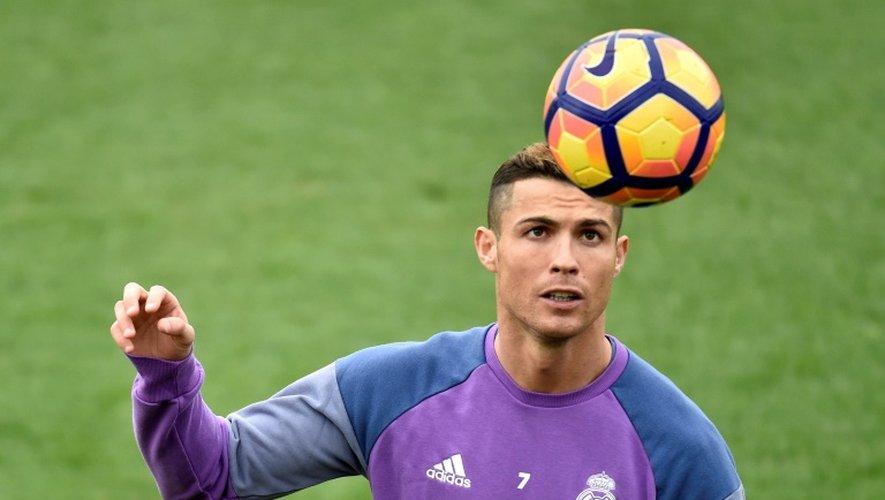 L'attaquant du Real Cristiano Ronaldo à l'entraînement à Madrid, le 9 décembre 2016