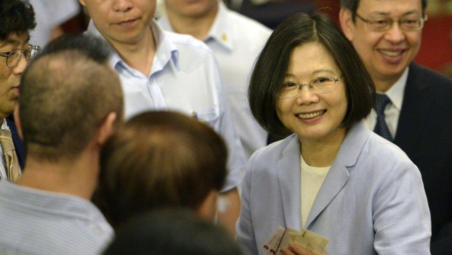La présidente taïwanaise  Tsai Ing-wen le 20 août 2016 à Taipei