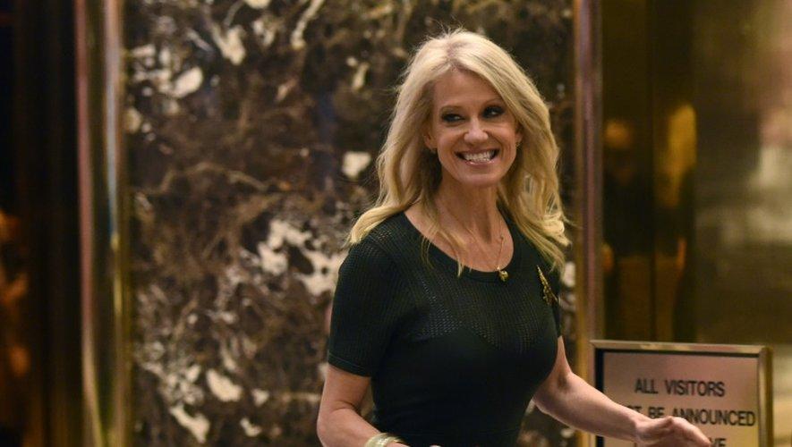 Kellyanne Conway à son arrivée le 12 décembre  2016 à la Trump Tower à  New York