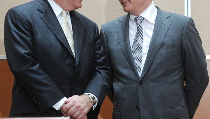 Le PDG d'ExxonMobil Rex Tillerson et Vladimir Poutine le 30 août 2011 à Sochi