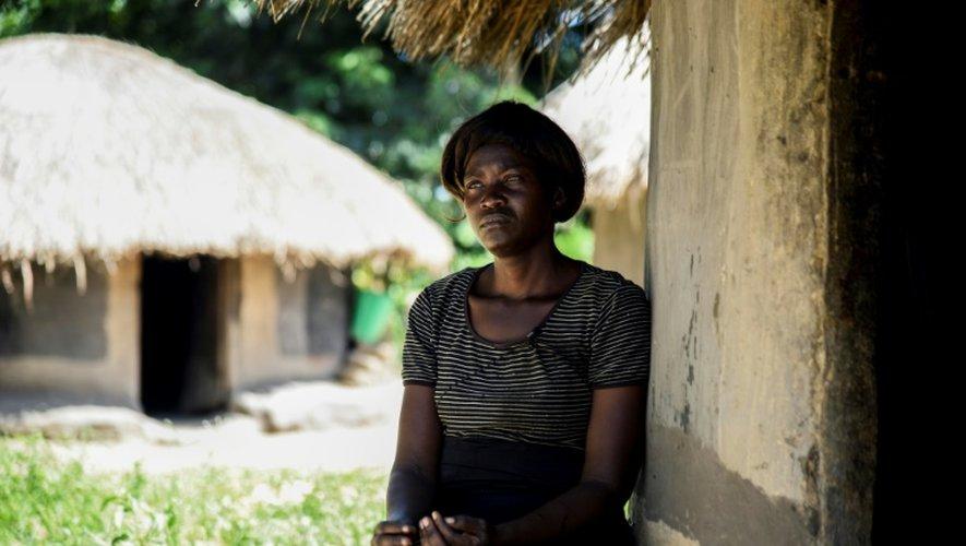 Lily Atong, l'ancienne compagne du chef de l'Armée de résistance du Seigneur (LRA), Joseph Kony, le 5 décembre 2016 à Kampala en Ouganda