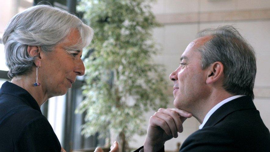 Christine Lagarde et Stéphane Richard, le 28 juin 2010 à Paris au ministère de l'Economie