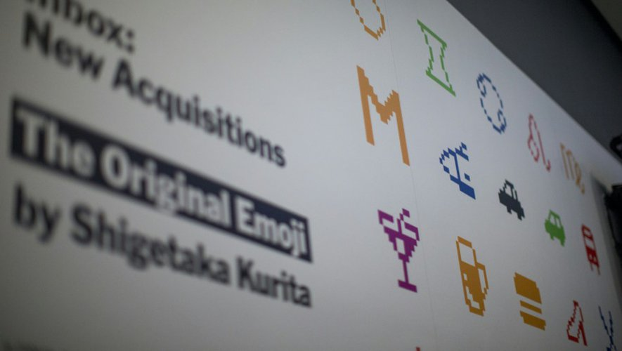 """Des """"Emoji"""" du créateur japonais Shigetaka Kurita exposés le 15 décembre 2016 Musée d'art moderne (MoMA) à  New York"""