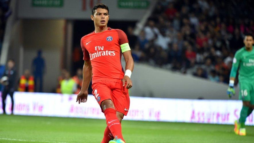 Le défenseur du PSG Thiago Silva lors d'un match contre Toulouse, le 23 septembre 2016 au Stadium
