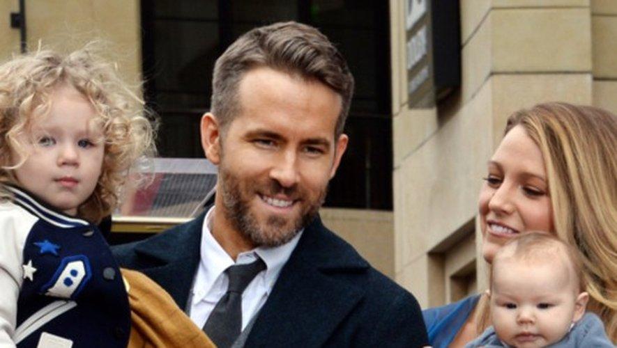 Blake Lively et Ryan Reynolds en famille sur Hollywood Boulevard