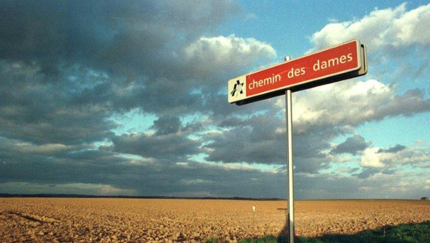 En 1917, la bataille du Chemin des Dames, entre Laon et Reims, fit 350.000 victimes