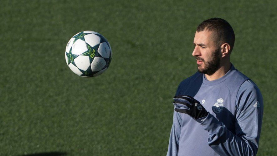 L'attaquant du Real Karim Benzema, le 6 décembre 2016 à Madrid