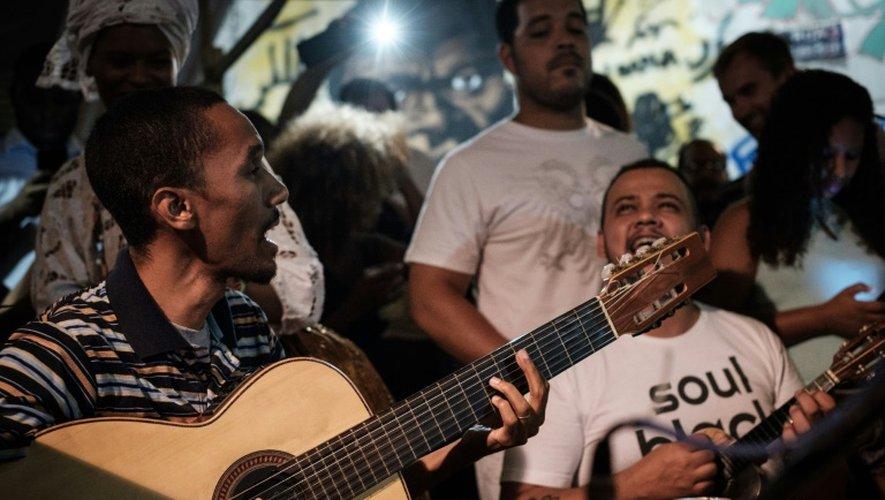 Un concert à Pedra do Sal, berceau de la samba, à Rio de Janeiro, le 21 novembre 2016
