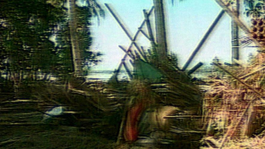 Une zone dévastée en Papouasie-Nouvelle-Guinée par un tsounami, le 19 juillet 1998 à Aitape