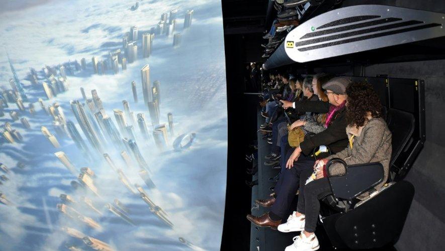 """Inauguration de l'""""extraordinairee voyage"""" au parc Futuroscope, à  Chasseneuil-du-Poitou, en France, le 10 décembre 2016"""