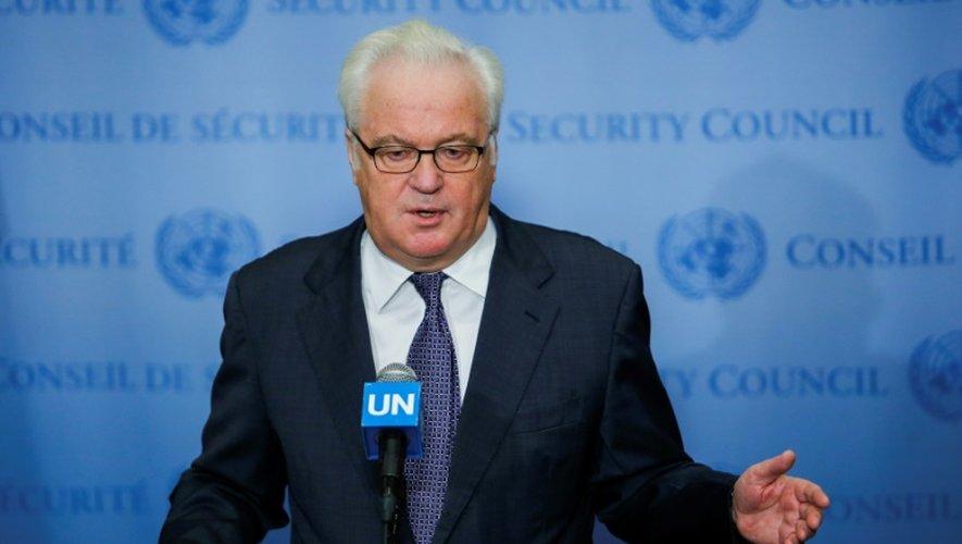 L'ambassadeur russe à l'ONU, Vitali Tchourkine, le 6 octobre 2016 à New York