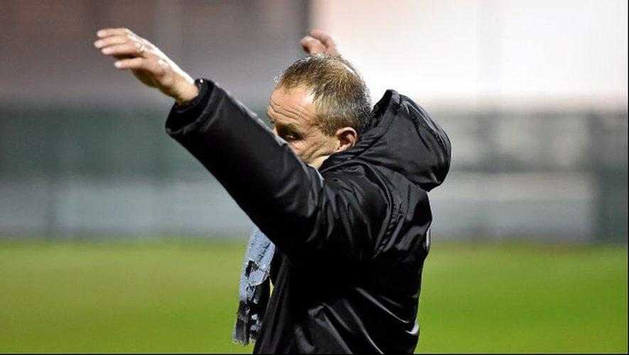 Le désespoir de l'entraîneur Laurent Peyrelade, vendredi soir, à Marignane.