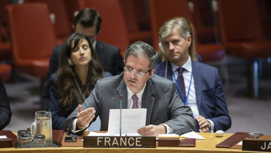 L'ambassadeur français Francois Delattre le 25 septembre 2016 au conseil de sécurité de l'Onu à New York