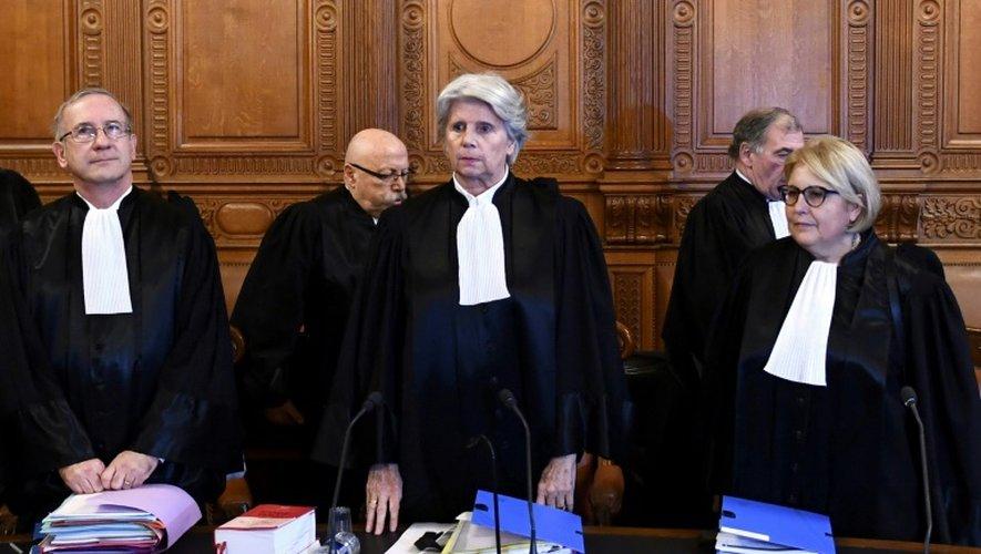 Martine Ract Madoux (C), le 12 décembre 2016, préside la Cour de Justice de la République