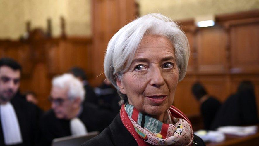 Christine Lagarde devant la Cour de Justice de la République le 12 décembre 2016 à Paris
