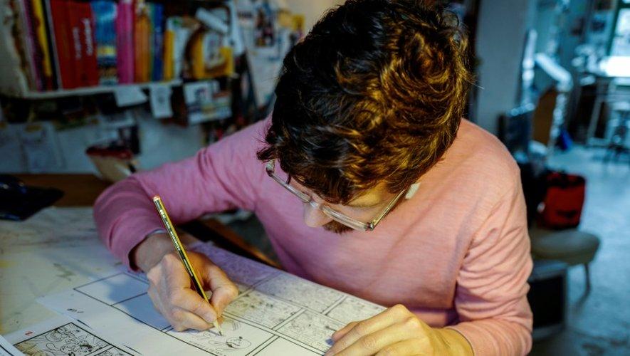 Le dessinateur allemand Mawil dans son studio à Berlin, le 23 novembre 2016
