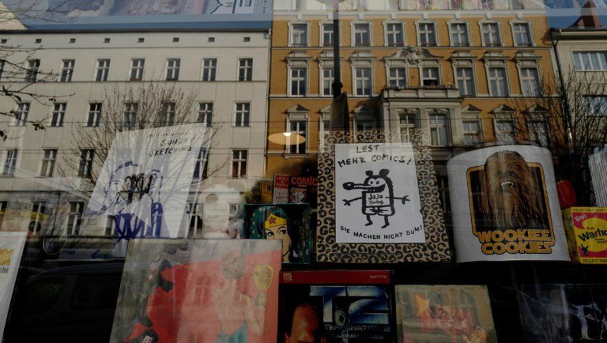 La librairie de bande dessinée Modern Graphics à Berlin, le 23 novembre 2016