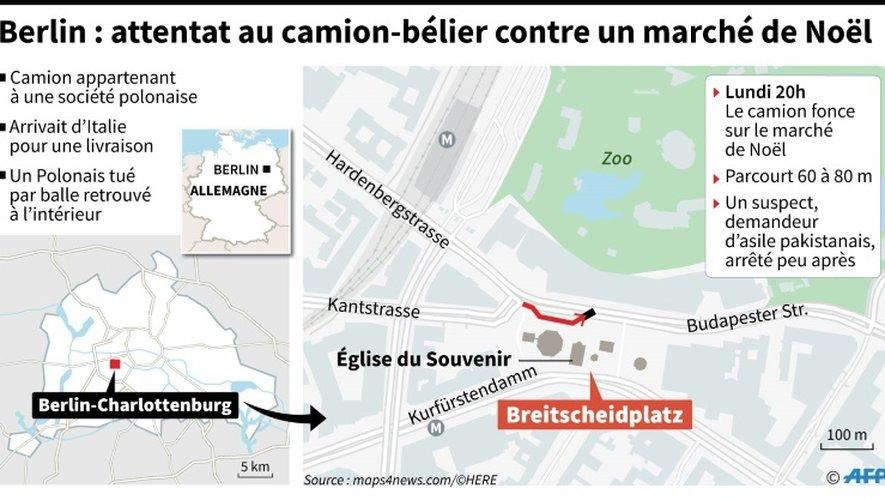 Berlin : attentat au camion-bélier contre un marché de Noël