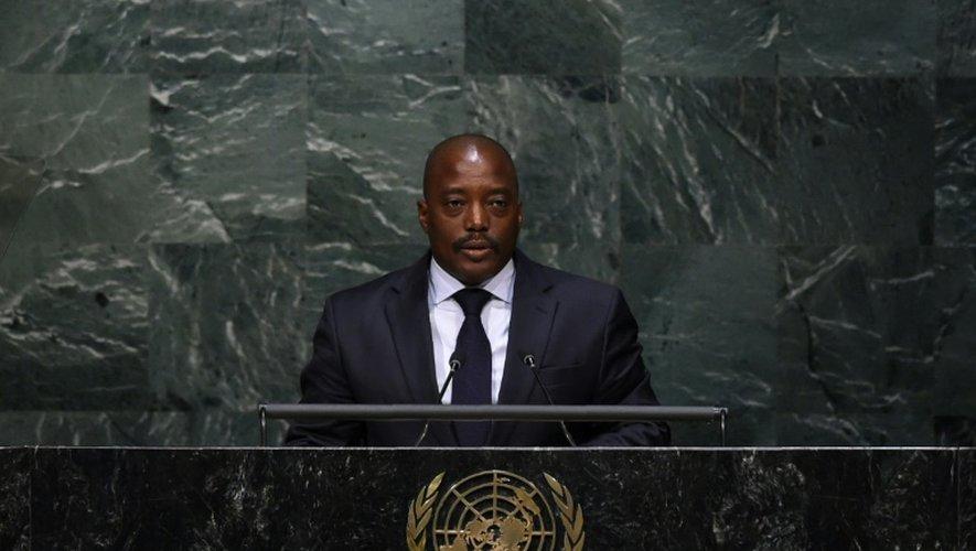 Le président de la République démocratique du Congo Joseph Kabila le 22 avril 2016 à New York