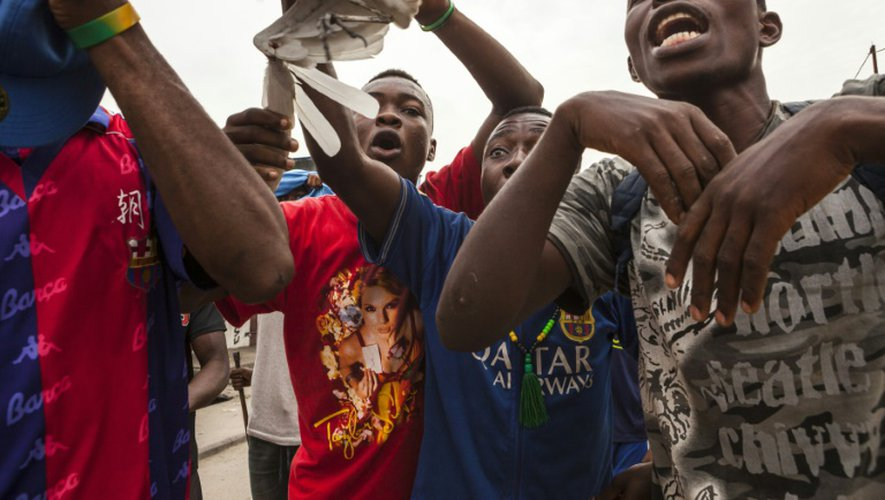Rassemblement anti-présidentiel à Kinshasa, en RD Congo, le 20 décembre 2016