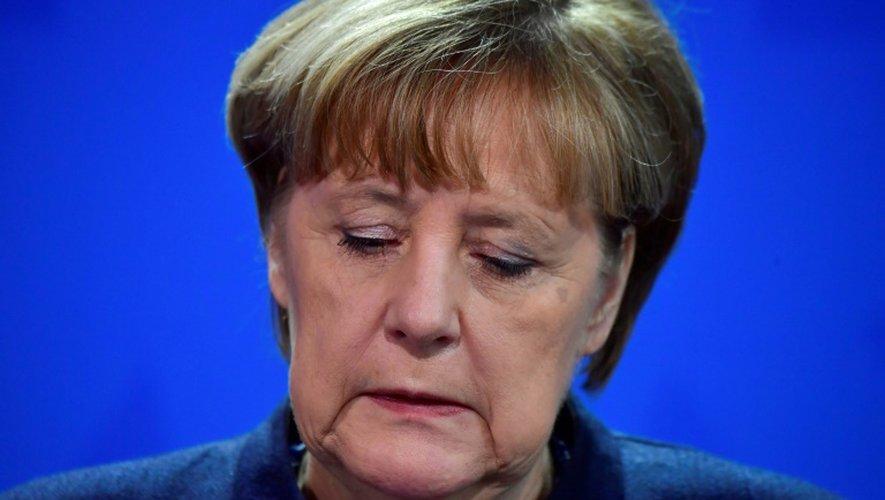 La chancelière Angela Merkel fait une déclaration à la presse à Berlin le 20 décembre 2016