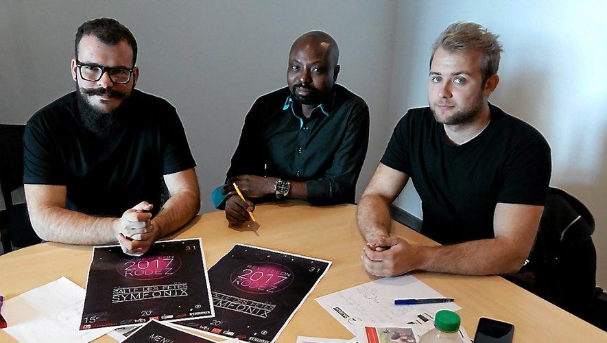 Martin Worou, au centre, et les cogérants de Symfonix, espèrent attirer autant de monde qu'en 2014.