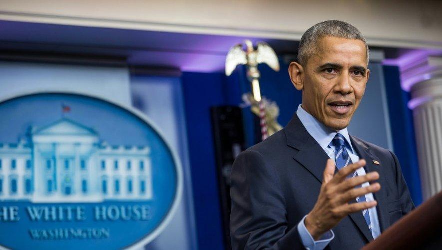 Le président américain Barack Obama à Washington, le 16 décembre 2016