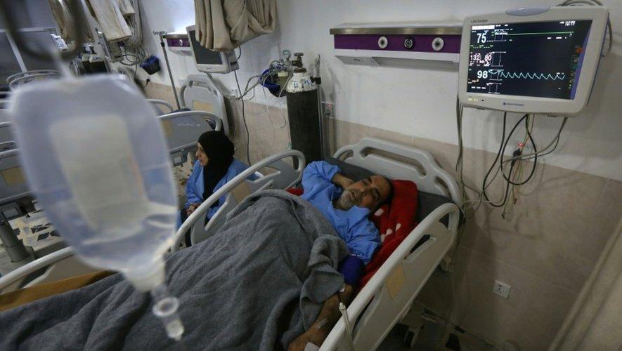 Un Irakien blessé à Mossoul, hospitalisé le 19 décembre 2016 à Arbil