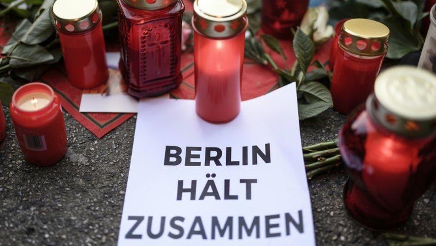 Mémorial en hommage aux victimes de l'attentat de Berlin, le 21 décembre 2016 dans la capitale allemande