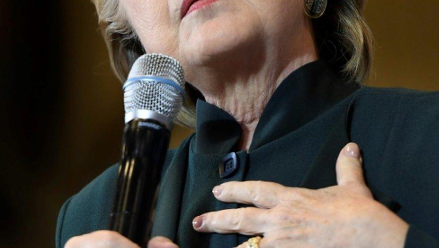 Hillary Clinton, candidate malheureuse à la présidentielle américaine, à Cleveland, aux Etats-Unis, le 22 octobre 2016
