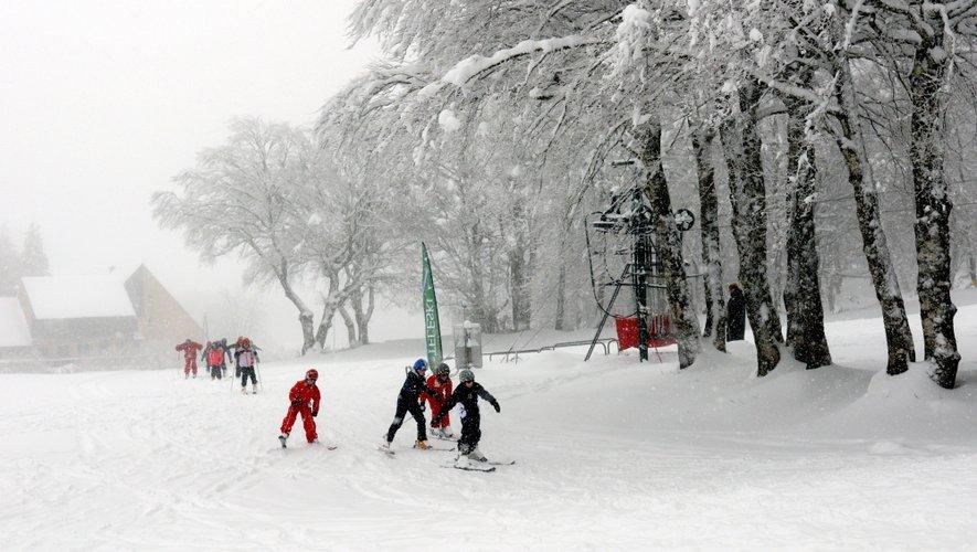 On peut skier sur l'Aubrac!