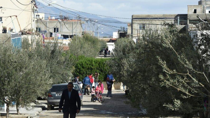 Vue du quartier de Oueslatia (centre de la Tunisie) où vit la famille d'Anis Amri, principal suspect dans l'attaque de Berlin, le 22 décembre 2016