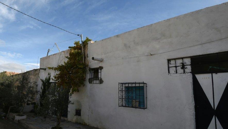 La maison familiale d'Anis Amri, principal suspect dans l'attaque de Berlin, le 22 décembre 2016 à Oueslatia en Tunisie