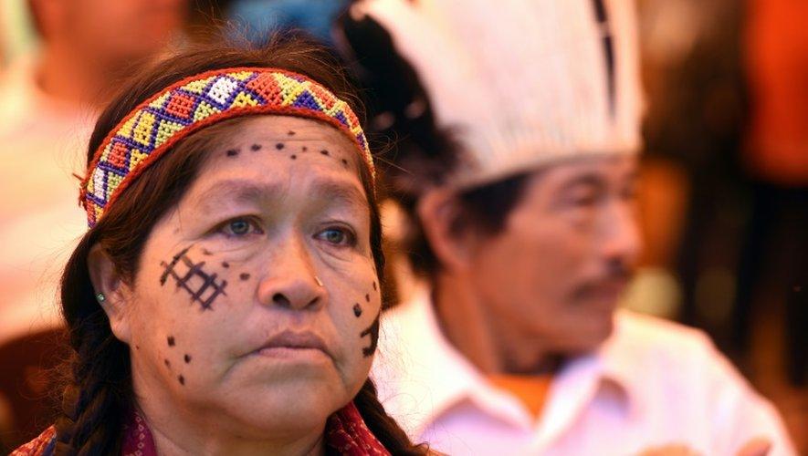 Une Indienne Aché Guayaki, le 10 novembre 2016 à Puerto Barra, au Paraguay