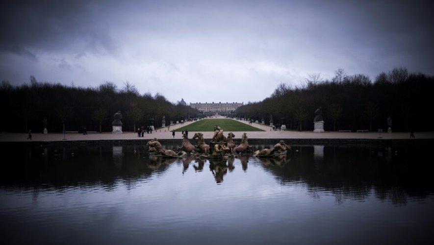 Vue sur le Château de Versailles, près de Paris, le 23 décembre 2016