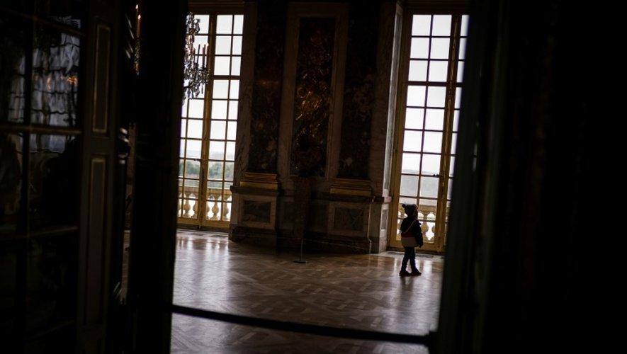 Un visiteur dans le Palais de Versailles, le 22 décembre 2016