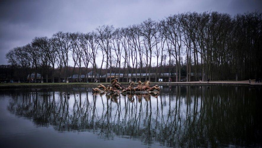 Dans le jardin du Château de Versailles le 23 décembre 2016