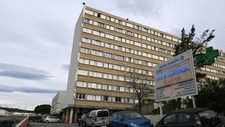Le Parc Kalliste, dans le 15e arrondissement de Marseille, le 25 décembre 2016 où un jeune homme a été tué par balles samedi soir