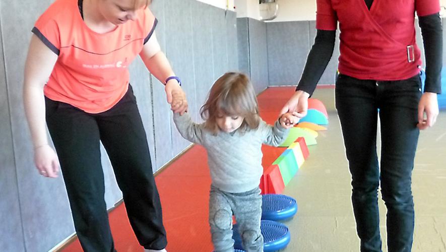 Camille Boutonnet, lors du dernier atelier, accompagnait un bambin et sa maman.