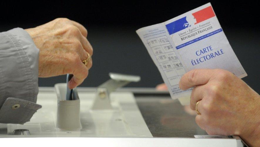 Vote pour les régionales le 6 novembre 2015 à Quintin en Bretagne
