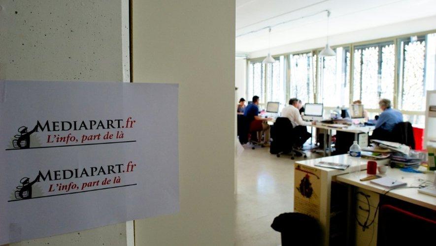 La salle de rédaction du site d'info Mediapart le 8 juillet 2010 à Paris