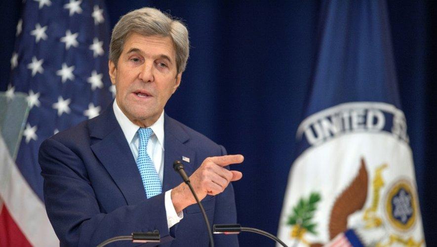 John Kerry au Département d'Etat à Washington le 28 décembre 2016