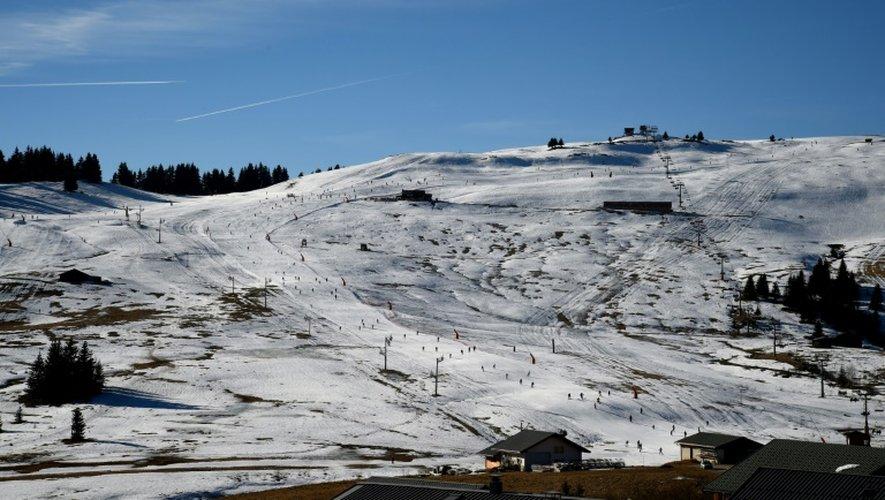 Vue générale d'une piste de ski le 28 décembre 2016 au Saisies