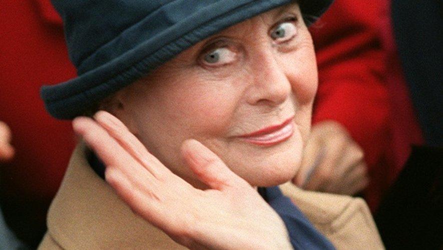 Michèle Morgan à son arrivée au Festival de Cannes, le 13 mai 1996