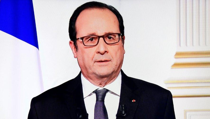 François Hollande lors des ultimes voeux télévisés du Nouvel an de son quinquennat, le 31 décembre 2016 à Paris